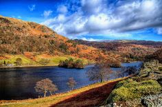 Rydal Water in the Lake District, Cumbria, England. Cumbria, Lake District, Brighton, Places Ive Been, Beautiful Places, Scenery, Photographs, England, River