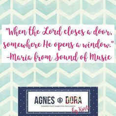 "#opportunity #paths #opendoors #soundofmusic  Motivation from the lovely Maria!  I'm having a super fun weekend Sound of Music themed party this weekend in my FB group in celebration of my birthday on Sunday. ""These are a few of my favorite things"" album shopping, trivia game, memes, and other fun, all Sound of Music themed. I love this movie and especially Maria!! #qotd #quotes #motivation #inspiration #empowered #agnesanddora #aandd #moviequotes"