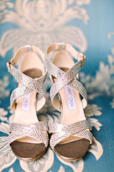 silver jimmy choo bridal heels on the blog #trendybride