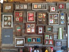 Vintage Beer Cans on Barn Wood