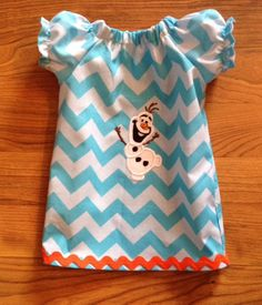 American girl doll dress 18 in doll frozen by UniqueEmbelishment, $18.00