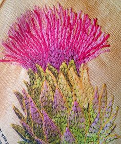 'embroidered thistle'