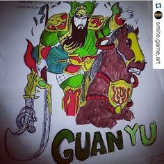 #Repost @smite.game.art  Guan yu art! Submitted by @9ale7_almofede_art #smite#art#guanyu