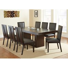 Amia Espresso Dining Set with Alexa Chairs by Greyson Living (Amia Dining Set with Alexa 901 Side Chair), Brown, Size Sets Dining Table Design, Dining Table In Kitchen, Dining Room Chairs, Dining Room Furniture, Dining Tables, Side Chairs, Dining Rooms, Dinning Set, Kitchen Sets