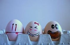 clever, cool, creative, egg, faces, Funny, Inspiration, Photography,