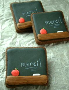 chalkboard cookies | Cookie Connection