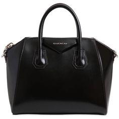Givenchy Women Small Antigona Polished Leather Bag (€2.185) ❤ liked on Polyvore featuring bags, handbags, purses, bolsas, sac, black, leather handbag purse, leather bags, givenchy bags and real leather purses