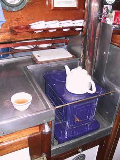 stove installation idea. marine stove: little cod model