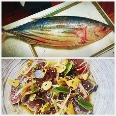 Chef made a great tataki out of this Hawaiian skipjack tuna; it tastes as beautiful as it looks! Tonight for dinner 5:00-10pm #tuna #hawaii #sushipop #tataki by sushipopoviedo