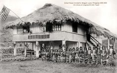 A school for girls? Photographer unknown, Bain News Service, publisher US Library of Congress No known restrictions on publication. Filipino Architecture, Philippines Fashion, Intramuros, Vigan, Class Pictures, Library Of Congress, Pinoy, Homeschool, Cabin