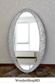 Full length mirror x Oval mosaic mirror/ Made to order Fancy Mirrors, Unique Mirrors, Custom Mirrors, Cool Mirrors, Decorative Wall Mirrors, Ikea Mirror, Diy Mirror, Wall Mirror Ideas, Wall Art