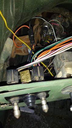 switch wired and you can see the ground buss with orange wire going to it   art contoni · cucv starter modifications