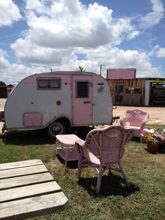 little gypsy trailer/patio in the backyard for moms clubhouse. :) maybe I can share...