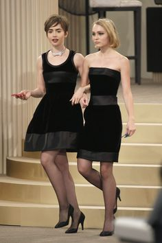 Lily Collins & Lily Rose Depp in Chanel