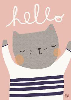 <p>Een superlieve kat die graag samen met zijn vriend beer op de baby- of kinderkamer hangt. Geïllustreerd door Aless Baylis.<br />De poster heeft een A3 formaat, off set gedrukt met matte inkt.</p>