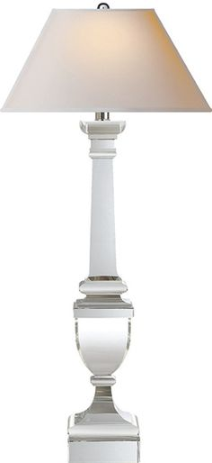 """Could a pair of these work on the MBR console? crystal 33 3/4"""" H Base 5"""" sq  Shade: 7"""" x 14"""" x 8 1/2""""GUSTAVIAN BUFFET LAMP"""