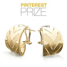 Learn more about how to win this adorable pair of gold earrings by sharing your gold style on Pinterest at http://MayIsGoldMonth.com! #MIGM