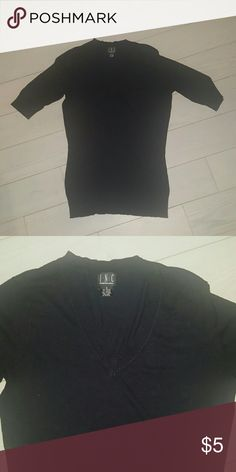 INC small black v neck sweater Size small v neck  no rips tears or stains INC International Concepts Sweaters V-Necks