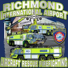 Artwork created for Richmond International Airport Fire Dept. by our talented designer Katrina Schmelter. Hand drawn from photographs!
