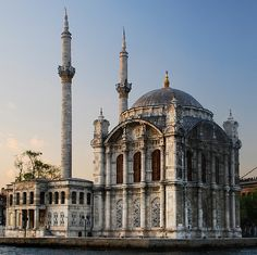 Ortaköy Mosque, Turkey - The original Ortaköy Mosque was built in the 18th century. The current mosque, which was erected in its place, was ordered by the Ottoman sultan Abdülmecid and built between 1854 and 1856.