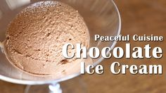 Chocolate Ice Cream without an Ice-cream Maker (vegan) ☆ チョコレートアイスクリームの作り方