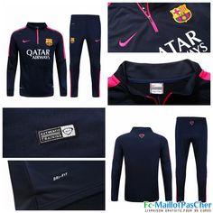 Le Nouveau Survetement FC Barcelone Black 15 2016 2017 Prix Pas Cher