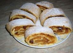 Strudel, Sweet Desserts, Apple Pie, Ham, Pancakes, Deserts, Sweets, Bread, Baking