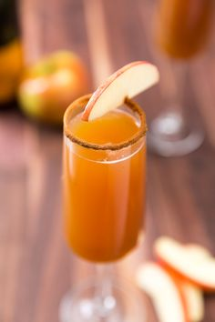 Whether you're toasting to fall or obsessed with apple cider, these mimosas are insanely delish.