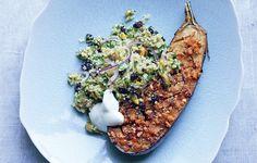Spice Eggplant with Bulgar Salad