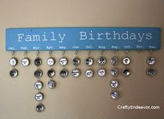 Free Birthday Reminder App ~ Family birthday reminder board in antique by havensplace on etsy