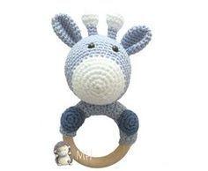 Mordedor jirafa patrón amigurumi Crochet Baby Toys, Crochet Animals, Knit Crochet, Amigurumi Doll, Amigurumi Patterns, Crochet Patterns, Baby Rattle, Cute Pattern, Giraffes