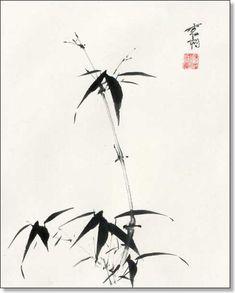 Resultado de imagen de sumi-e bamboo painting