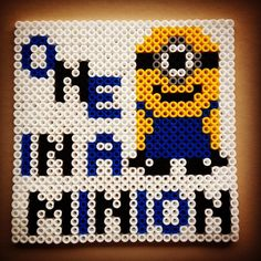 Minion perler beads by karina_oeh