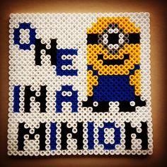 Minion perler beads by karina_oeh