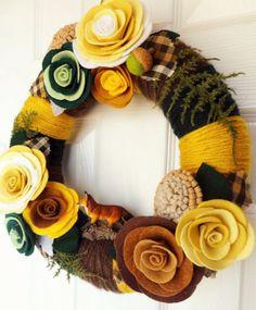 The Fox and The Acorn  Felt and Yarn Wreath  The by KnockKnocking