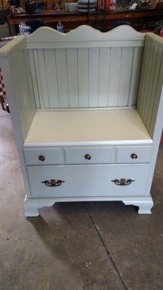 Repurposed dresser into storage bench.  $125 SOLD