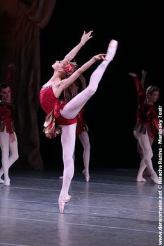 Ekaterina Kondaurova in George Balanchine's Rubies. Choreography (c) George Balanchine Trust. Photo (c) Natasha Razina/Mariinsky Ballet.