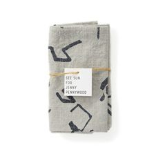 - set of 2 - linen/rayon blend - 17 x - screen printed in San Francisco with waterbased inks - pre-washed - over-dyed in pebble Textile Design, Screen Printing, Napkins, Sun, Prints, San Francisco, Kitchen, House, Inspiration