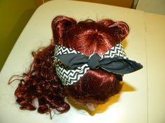 Black & White Chevron Hair Tie/Bandana  Rockabilly / by TinisTies
