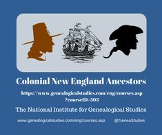 Course for Colonial New England Ancestors Research. #ColonialGenealogy #genealogy #familyhistory Map Websites, Pequot War, Cemetery Records, Military Records, Vital Records, Court Records, Family History, Research, Genealogy