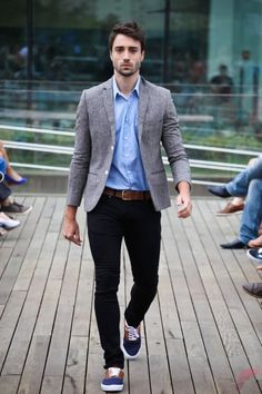 Men sport coat with jeans