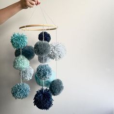 pompom hanging tactile toy