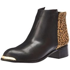 d5c91b5db3e N.Y.L.A. 8446 Womens Melrose Faux Leather Animal Print Ankle Boots Shoes  BHFO - BHFO Lowest Price