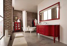 Tendenze collection red&white washstand lavoar in doua culori