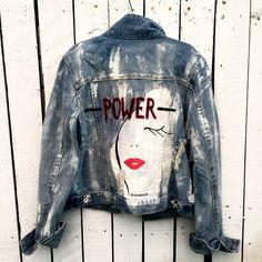'Powerful' Denim jacket #jeansjacket