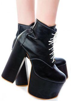 #exclusive! #Deandri Tequila Boot Platform  in black