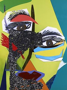 """The subjects of Ms. Thomas's new collage-paintings could be Picasso's """"Demoiselles"""" glammed up for a night at Studio Artistic Movement, Contemporary Modern Art, Art Projects, Painting, Art, Collage Art, Art History, Art Exhibition, Pop Art"""