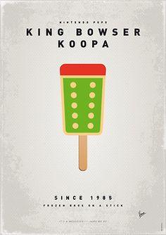 King Bowser - Koopa - Nintendo Ice Pop Prints .Created by Chungkong