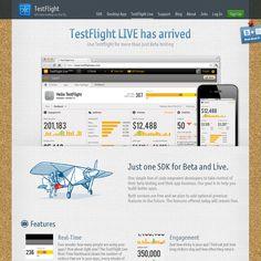Pretty interesting layout    Website 'https://testflightapp.com/sdk/live/' snapped on Snapito!