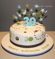 30th birthday cake by Pompom Cakes, via Flickr